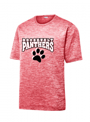 Roosevelt Panthers Red Or Black Electric Heather Dri Fit Tee