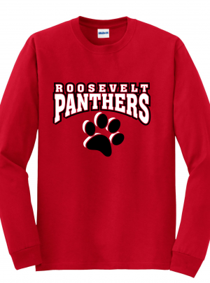 Roosevelt Panthers Red or Grey Long Sleeve T-Shirt