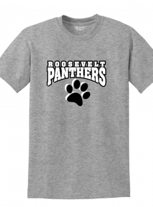 Roosevelt Panthers Red or Grey Short Sleeve T-Shirt