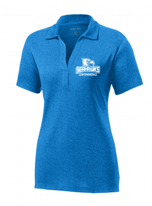 Ladies Contender Polo, Blue Wake Heather, S-3XL