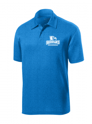 Contender Polo, Blue Wake Heather, S-3XL